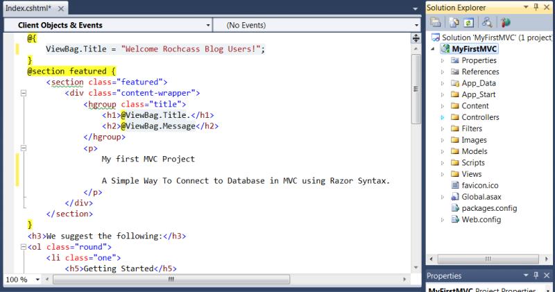 MVC project folders