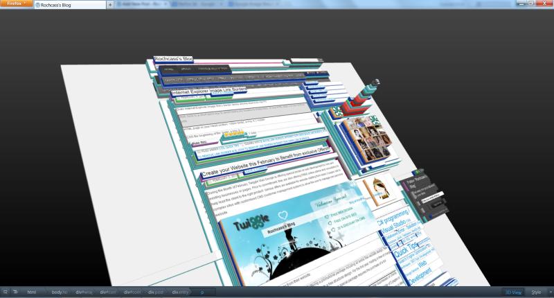 Firefox 3D view