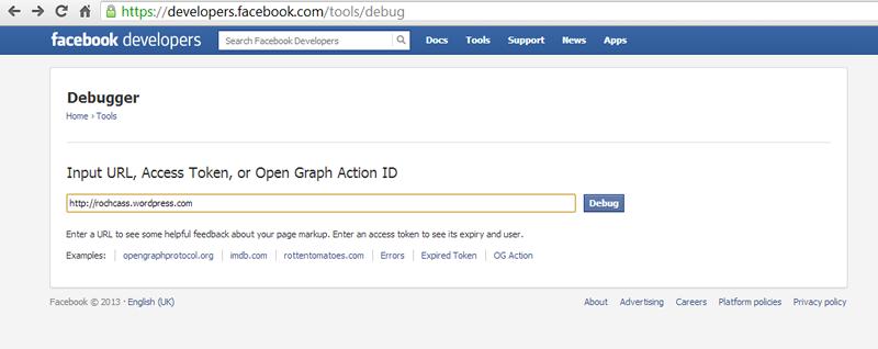 Facebook Developer Debug Tool | Rochcass